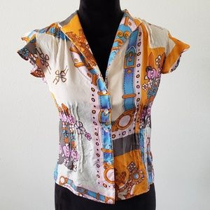 B2G1 Walter by Walter Baker Silk Floral Blouse
